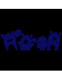 Vinilo Decorativo Infantil IN114, Mediano, Azul Oscuro 8238-01, Original