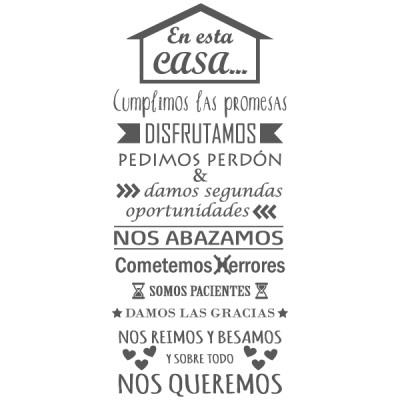 Vinilo Decorativo Texto TE036, Pequeño, Gris Oscuro 8288-01, Original