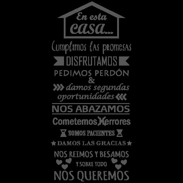 Vinilo Decorativo Texto TE036, Mediano, Gris Oscuro 8288-01, Original