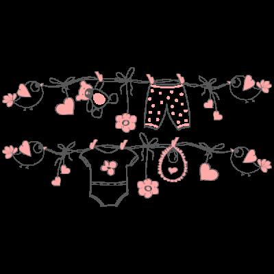 Vinilo Decorativo Infantil IN207, Mediano, Gris Oscuro 8288-01, Rosa Pastel 8958-19, Original