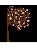 Vinilo Decorativo Infantil IN218, Grande, Marron 8282-01, Rosa Pastel 8958-19, Invertir