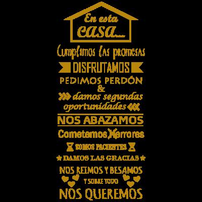 Vinilo Decorativo Texto TE036, Grande, Oro 8278-00, Original