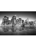 Fotomural Manhattan FCI015, 294cm. x 142cm., Vinilo Autoadhesivo Mate, Blanco y Negro, Original, 0x0x0x0 cm.