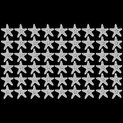 Vinilo Decorativo Estrellas de Mar PA018, Mediano, Plata 8268-00, Original
