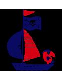 Vinilo Decorativo Infantil IN211, Pequeño, Azul Oscuro 8238-01, Rojo 8258-03, Original