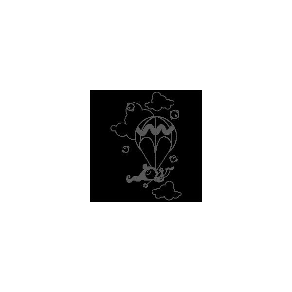 Vinilo Decorativo Infantil IN090, Pequeño, Gris Oscuro 8288-01, Original