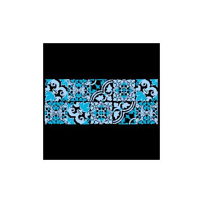 Vinilo Decorativo Moderno MO229, Pequeño, Azul Cielo 8238-07, Azul Claro 523, Invertir