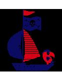 Vinil Decorativo Infantil IN211, Pequeño, Azul Oscuro 8238-01, Rojo 8258-03, Original