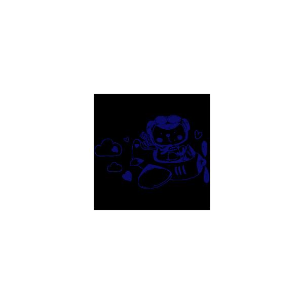 Vinilo Decorativo Infantil IN170, Mediano, Azul Oscuro 8238-01, Invertir