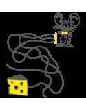 Vinilo Decorativo Infantil IN209, Pequeño, Gris Oscuro 8288-01, Amarillo 8208-02, Original