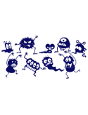 Vinilo Decorativo Infantil IN112, Pequeño, Azul Oscuro 8238-01, Original