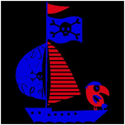 Vinilo Decorativo Infantil IN211, Grande, Azul 8238-10, Rojo 8258-03, Invertir