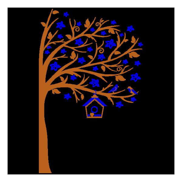 Vinilo Decorativo Infantil IN218, Grande, Cobre 8278-01, Azul 8238-10, Invertir
