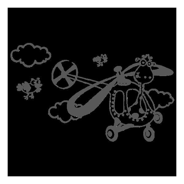 Vinil Decorativo Infantil IN153, Mediano, Gris Oscuro 8288-01, Invertir