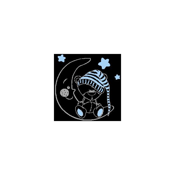 Vinil Decorativo Infantil IN206, Pequeño, Gris Claro 8288-04, Azul Cielo 8238-07, Original