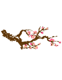 Vinil Decorativo Floral FL201, Mediano, Marron 8282-01, Salmon Suave 8958-22, Magenta 8258-06, Invertir
