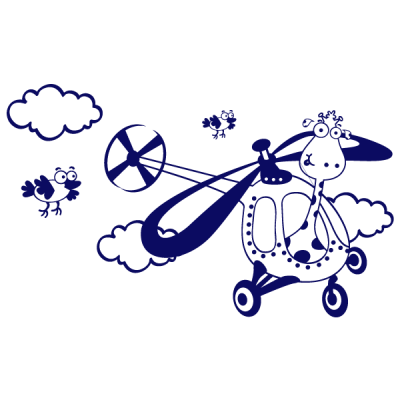 Vinilo Decorativo Infantil IN153, Mediano, Azul Oscuro 8238-01, Original