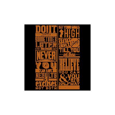 Vinilo Decorativo Textos TE031, Pequeño, Cobre 8278-01, Original