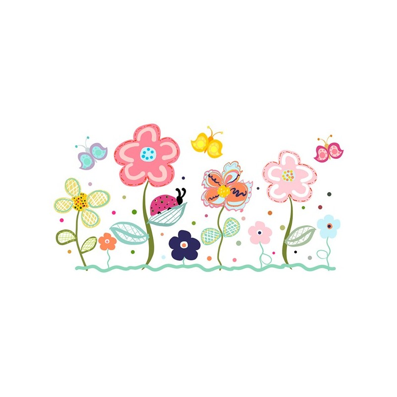 Vinilo Flores Infantiles 3013