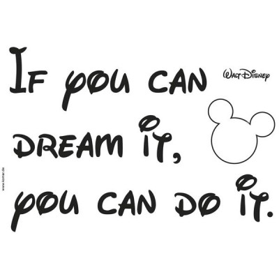 STICKER DISNEY YOU CAN DO IT 14002H