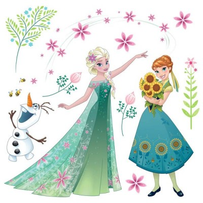 STICKER FROZEN FLOWER 16407