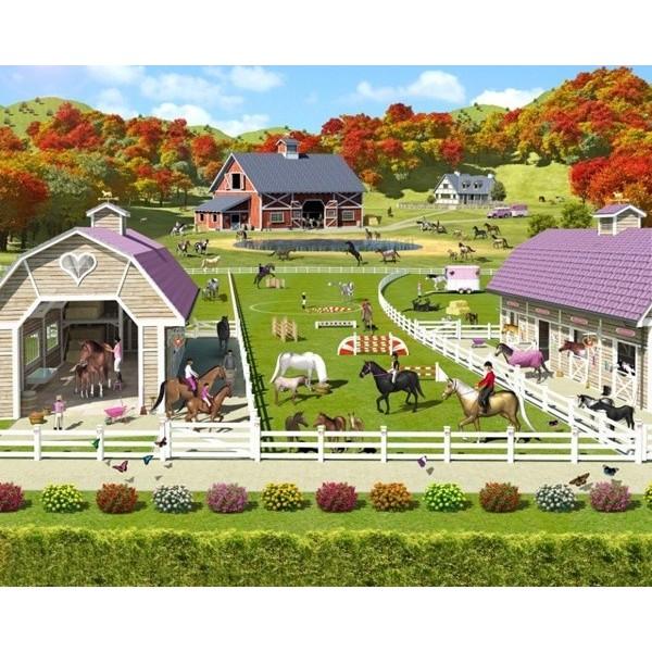 Fotomural Infantil HORSE AND PONY STABLES
