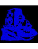 Vinilo Decorativo Moderno MO134, Mediano, Azul 8238-10, Original