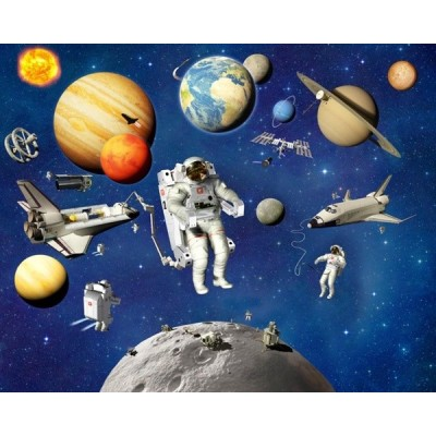 Fotomural Infantil SPACE ADVENTURE
