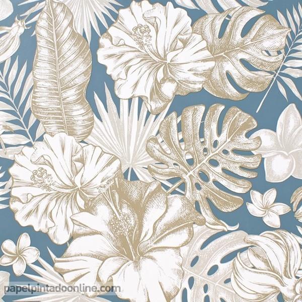 Paper pintat FULLES TROPICALS 017