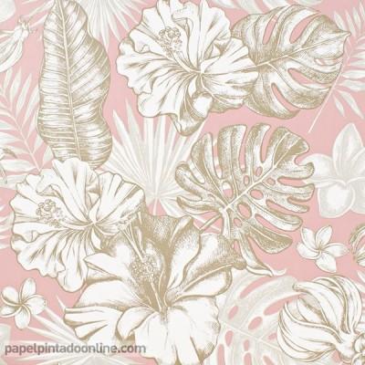 Paper pintat FULLES TROPICALS 014