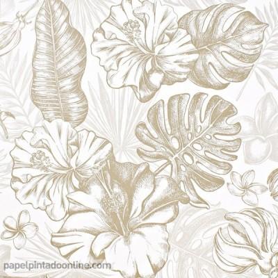 Paper pintat FULLES TROPICALS 011