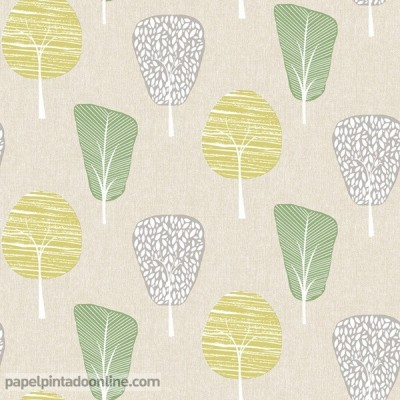Papel pintado RETRO HOUSE 902306