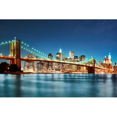 Fotomural New York City Skyline FLF010, 150cm. x 100cm., Vinilo Autoadhesivo Mate, Todo Color, Original, 0x0x0x0 cm.