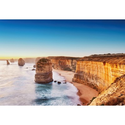 Fotomural CLIFF AT SUNSET IN AUSTRALIA