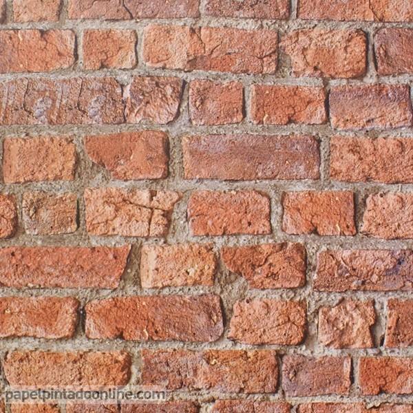 Papel de parede TIJOLO AVERMELHADO 696600