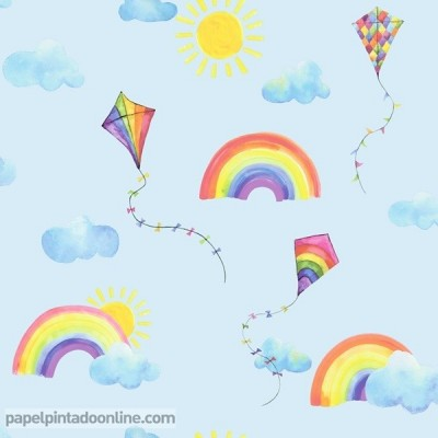 Paper pintat OVER THE RAINBOW 91022