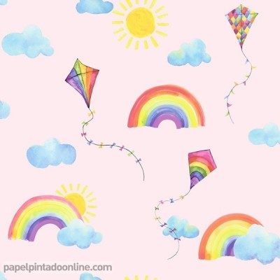 Paper pintat OVER THE RAINBOW 91021