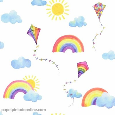Papel de parede OVER THE RAINBOW 91020