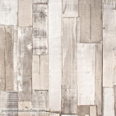 Papel pintado listones de madera 203714