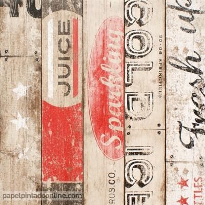 Papel pintado listones de madera vintage 95950-1
