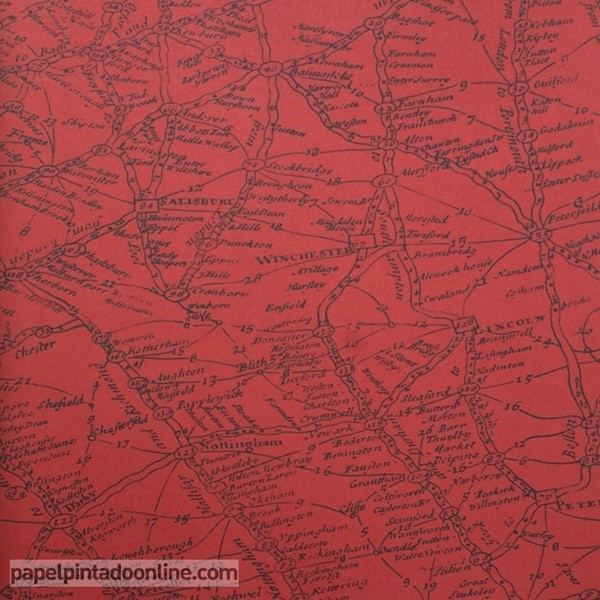 Papel pintado NAVIGATOR TRAVELLER RED
