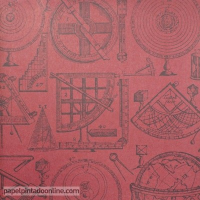Papel pintado NAVIGATOR NEWTON RED