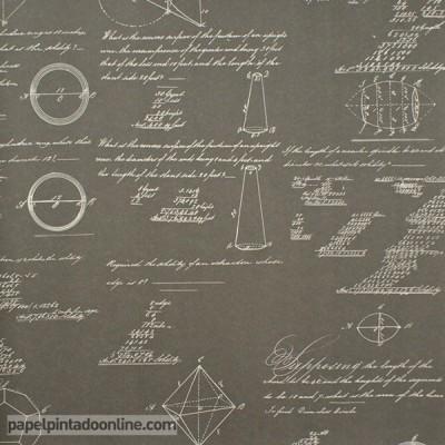 Papel de parede NAVIGATOR PYTHAGORAS CHARCOAL
