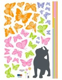 STICKER KITTEN LOVES BUTTERFLIES DP-08090