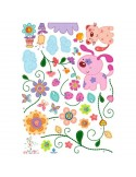 STICKER PATCHES PETS & FLOWERS DK-0013