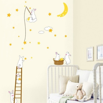STICKER RABBITS IN THE MOON DP-08165