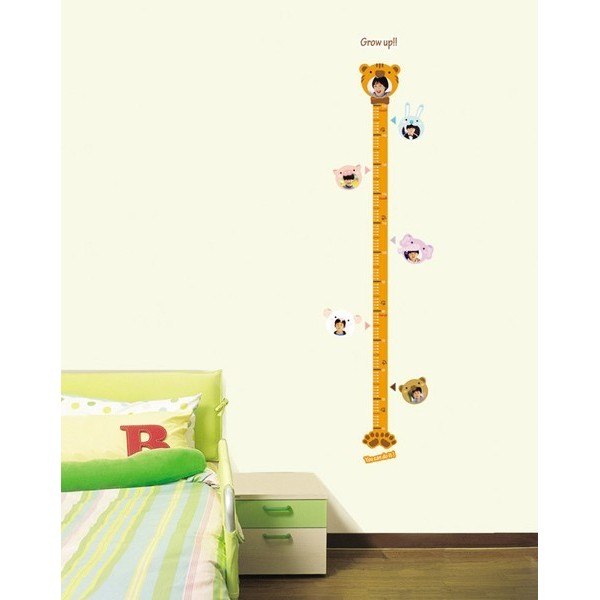 STICKER ANIMAL HEIGHT CHART DS-08240