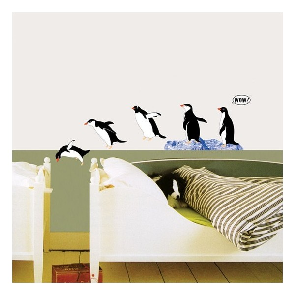 STICKER DIVING PENGUINS DS-08235