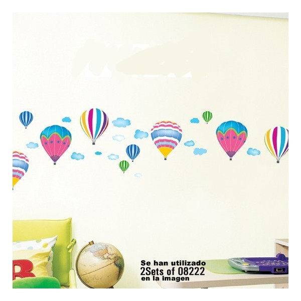 STICKER HOT AIRBALLONS IN THE SKY DS-08222