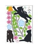 STICKER 3 BLACK KITTENS DKS-0104